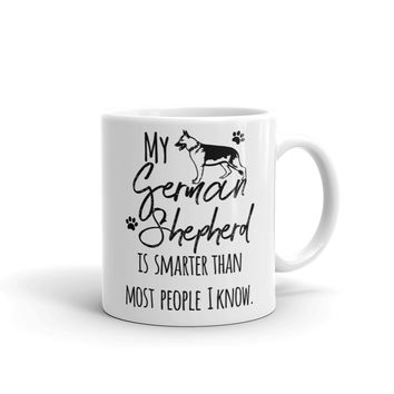 German shepherd lover coffee mug
