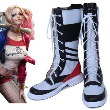 2d2b4d4c86e53e Batman Suicide Squad Harley Quinn male version cos Cosplay Shoes