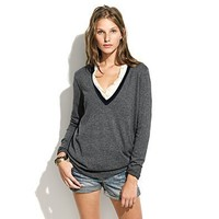 Women's SWEATERS - pullovers - Contrast Ex-Boyfriend Sweater - Madewell
