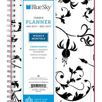 """Blue Sky 2017 Weekly & Monthly Planner, Wire-O Binding, 5"""" x 8"""", Analeis (19557)"""