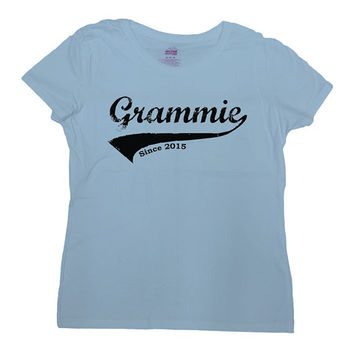Grandma T Shirt Grammie Since 2015 (Any Year) Grandmother T Shirt Mothers Day Gift New Grandma T-Shirt Gift For Grandmother Ladies Tee-SA538