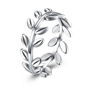 Sterling Silver Ring  New fashion branch ring woman
