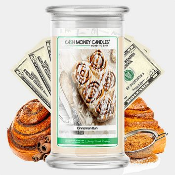 Cinnamon Bun Cash Money Candle