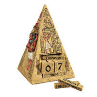 Park Avenue Collection Egyptian Pyramid Perpetual Calendar