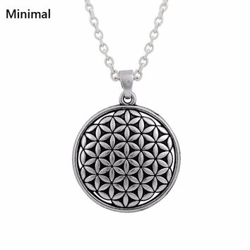 Life of Flower Pendant Necklace Jewelry
