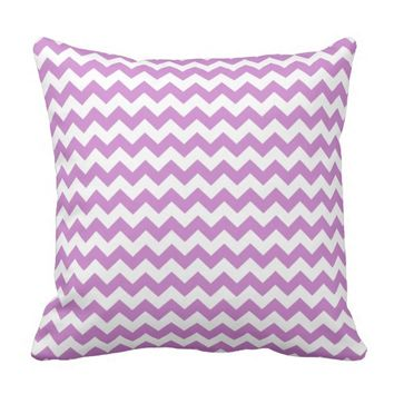 Stylish purple zig zags zigzag chevron pattern throw pillow
