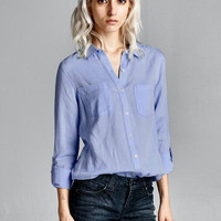 Cute Button Down Collared Blouse
