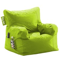 Comfort Research Big Joe Dorm Chair with Smart Max Fabric, Lime-anade