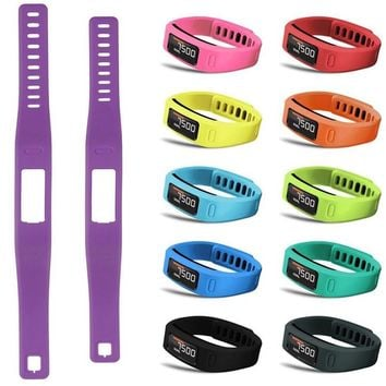 Colorful Replacement Wrist Support Wristband Sports Safety Bracelet Band Strap with Clasp for Garmin Vivofit 1 Large Small Size
