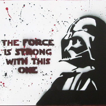 darth vader poster,darth vader star wars art,star wars poster,wall art,not a print,star wars painting,darth vader spray paint art,birthday