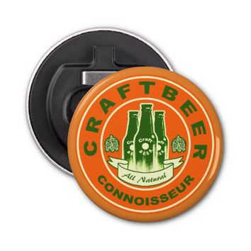 Craft Beer Connoisseur -Orange Green 2 Bottle Opener