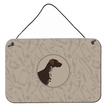 German Shorthaired Pointer In the Kitchen Wall or Door Hanging Prints CK2188DS812