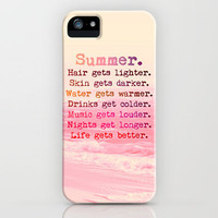 Summer in Pink iPhone Case by M✿nika  Strigel	 | Society6