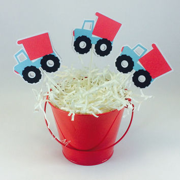 Truck Cupcake Toppers - Set of 12
