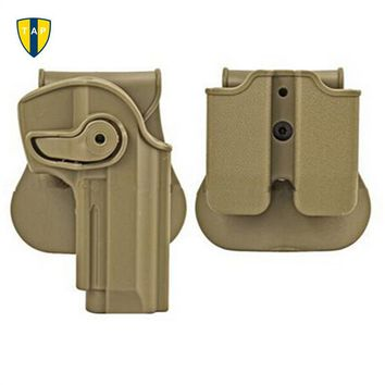 Polymer Retention Roto Tactical Gun Holster M92  Retention Holster for Beretta 92 Llama 82 Pistols Double Magazine Pouch