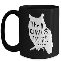 Twin Peaks TV Show Inspired Fan Gift   The Owls Are Not What They Seem   Owl Silhouette   Creepy Typography   Cult Classic Twin Peaks Series