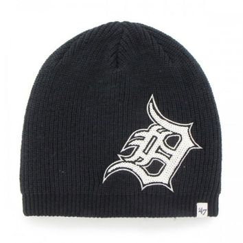 DCCKG8Q MLB 47 Brand Detroit Tigers Ladies Sparkle Beanie-Navy