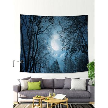 Night Sky & Jungle Print Tapestry