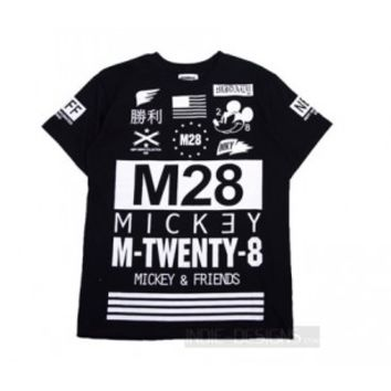 Indie Designs M-Twenty-8 Mickey Print T-Shirt