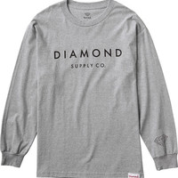 Diamond Stone Cut Longsleeve Small Heather Grey