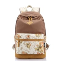 Leaper Casual Style Lightweight Canvas Laptop Backpack Cute Travel College School College Shoulder Bag/Bookbag
