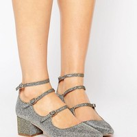 River Island Metallic Mary Jane at asos.com