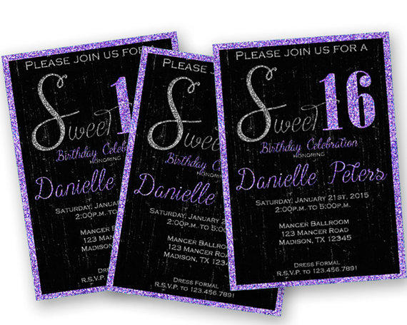 Lavender purple princess sweet 16 from partyprintexpress on etsy filmwisefo