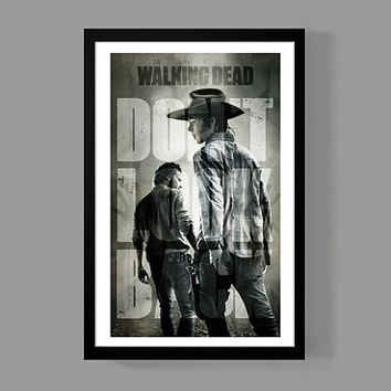 The Walking Dead - Rick Grimes Custom Poster - Iconic, Don't Look Back