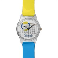 Beach Volleyball Watch - custom colors & name