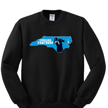 Map Carolina Panthers Sweatshirt Sports Clothing