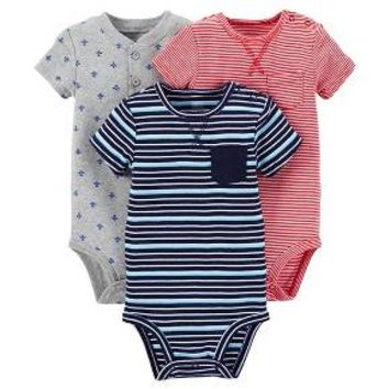 Just One You™ Made by Carter's® Baby Boys' 3-Piece Bodysuit Set - Blue