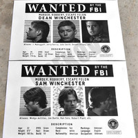 Supernatural Wanted Posters