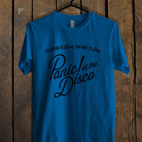panic at the disco pocket logo Blue Mens T Shirt **