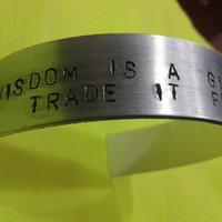 Vampire Weekend Bracelet STEP Quote - Wisdom's a gift but you'd trade it for youth