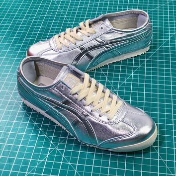 Asics Onitsuka Tiger Mexico66 Silver Casual Shoes Sneakers - Sale