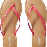 Old Navy Womens Faux Leather Capri Sandals