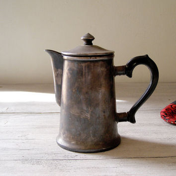 Silver Plated Teapot Coffe kettle Vintage USSR by MeshuMaSH