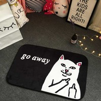 Cat Go Away Floor Rug