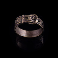Belt Ring, brass, size 17mm / US 6.5, handmade