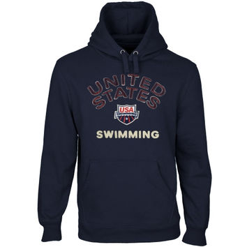 USA Swimming Heritage Men's Mid-Weight Pullover Hoodie - Navy