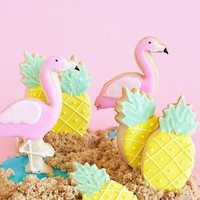 Pineapple & Flamingo Cookie Cutter Set