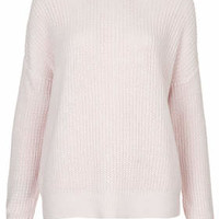PETITE Rib Grunge Jumper - Light Pink