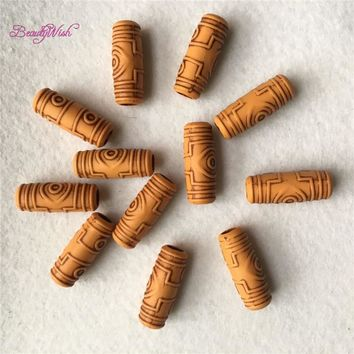6mm hair beads for braids 20Pcs--200Pcs Beautiful Braiding Hair  Dreadlock Beads Wooden Color Dread Hair Beads  for hair braid