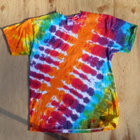 Rainbow Bandolier Tie Dye T-Shirt (Made By Hippies Tie Dye In Stock  in Sizes Small to 4XL) (Fruit of the Loom)