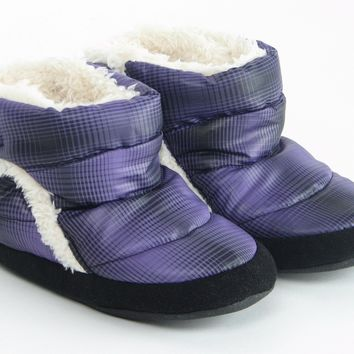 Polar Feet® Infants' Booties Cubbies™ Purple Plaid