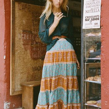Wisteria Maxi Skirt in Allure