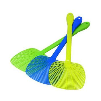"""Quickie® 11190 Comfortable Grip Fly Swatter with 5"""" Head, 3 Fun Colors"""