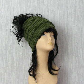 Dreadlocks accessory green tube hat headband wide knitted hair wrap dreadlocks headband