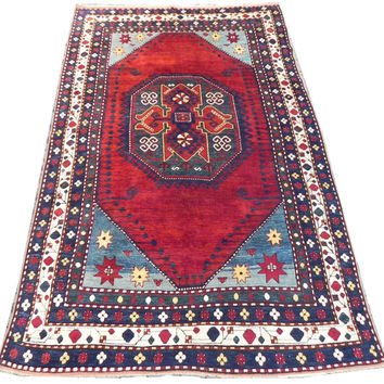 Large Antique Caucasian Lori Pambak Kazak Rug, 170x270 cm (5.6x8.10 ft), Excelent Condition, ca 1890