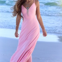 Goodbye Girl Pink Maxi Dress